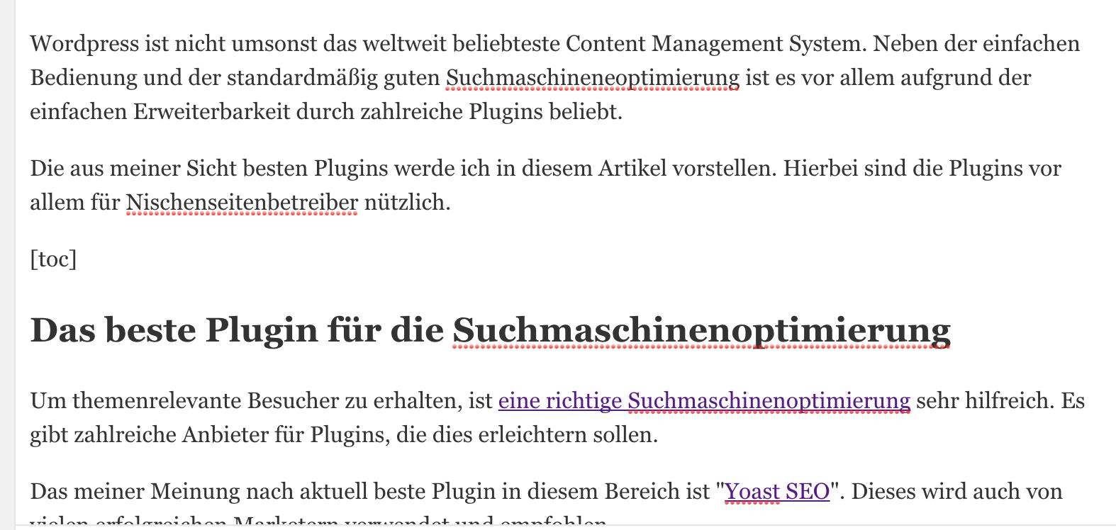 """Inhaltsverzeichnis mit """"Table of Contents Plus"""" einfügen"""