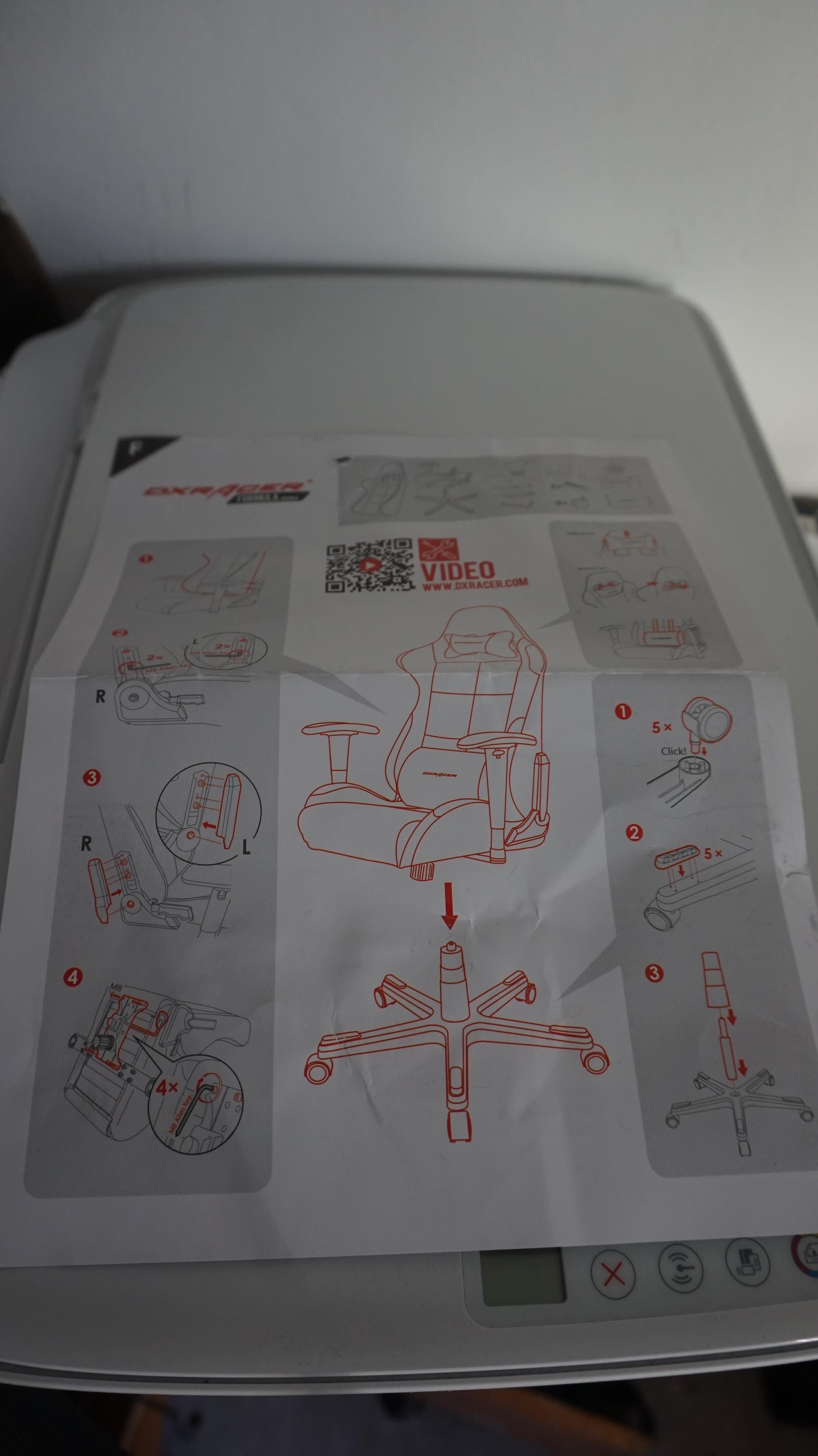 Bedienungsanleitung DX Racer 1