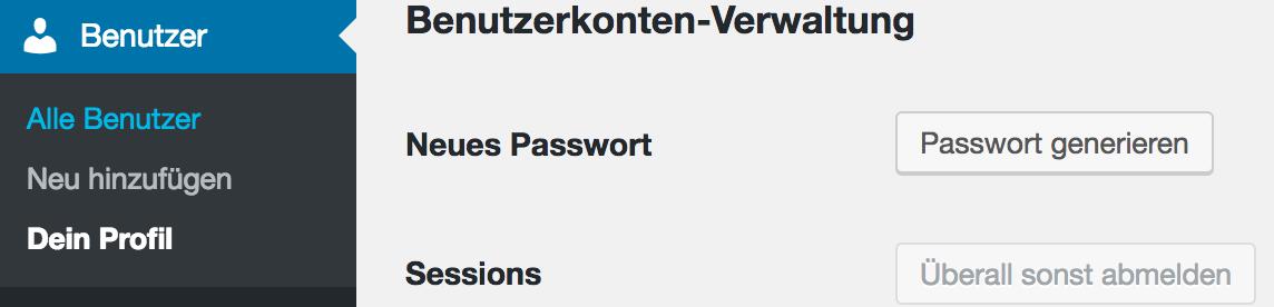 Passwort generieren bei WordPress