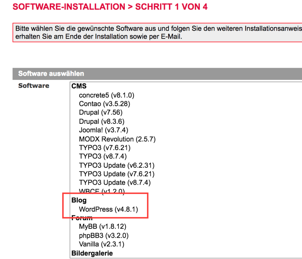 Softwareinstallation all inkl