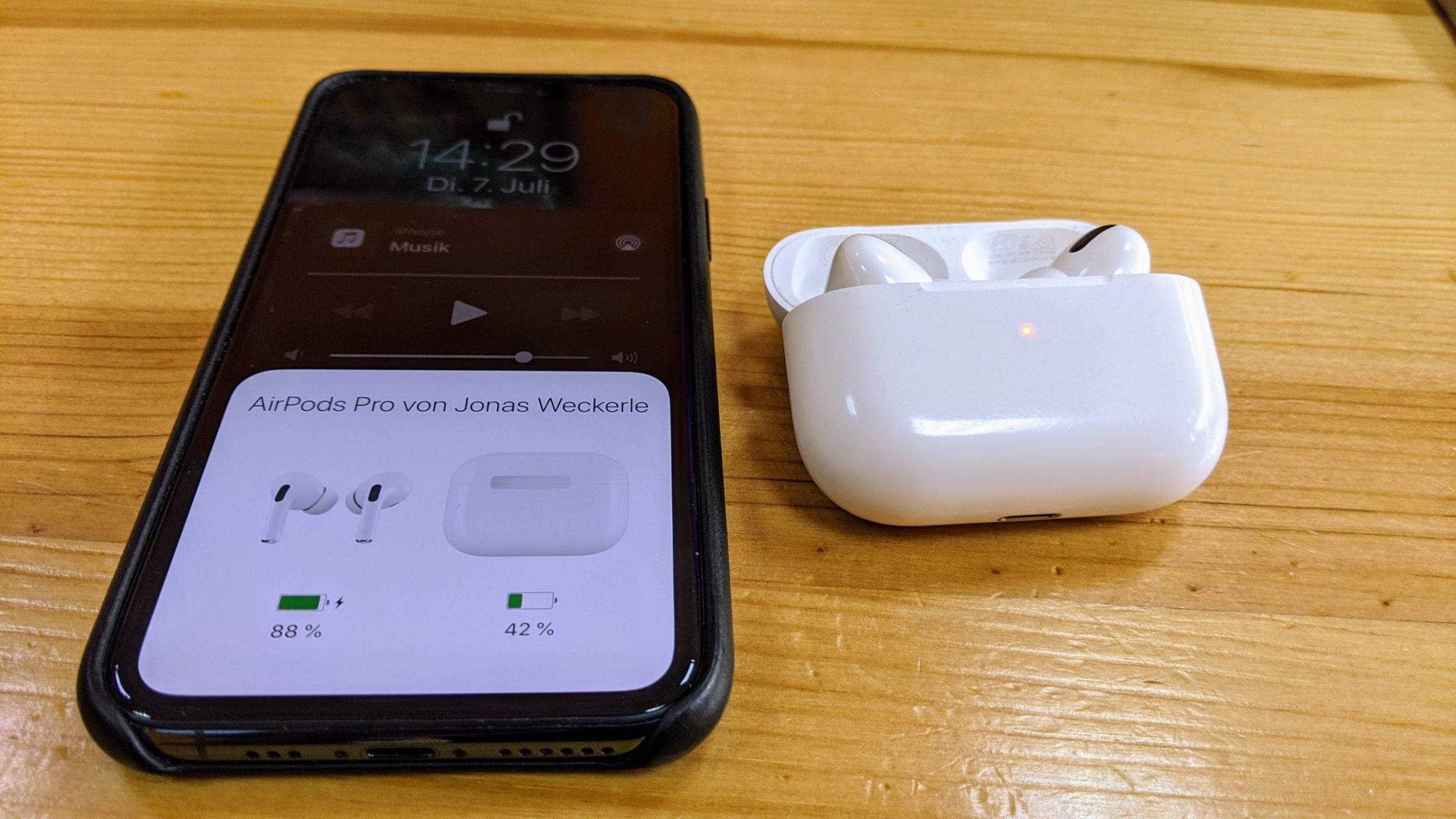 Airpods Pro Verbindung mit I-Phone