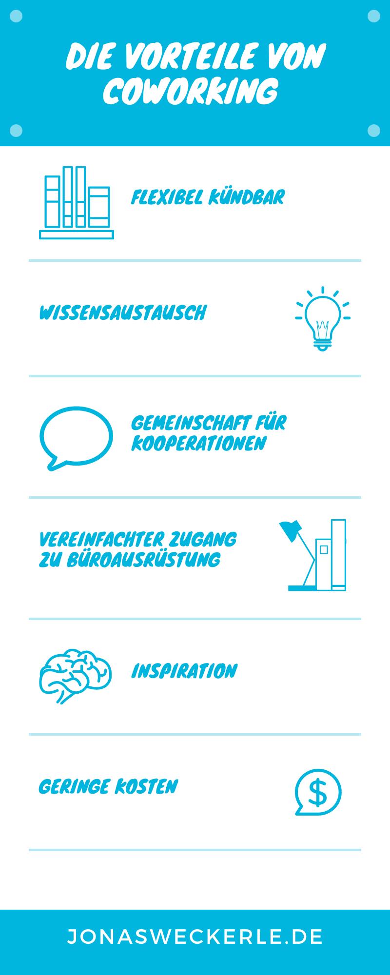 coworking vorteile infografik
