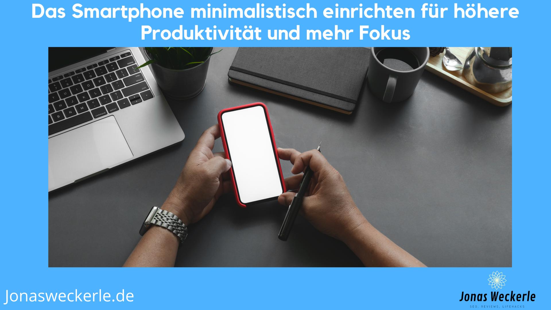 minimalistisches smartphone